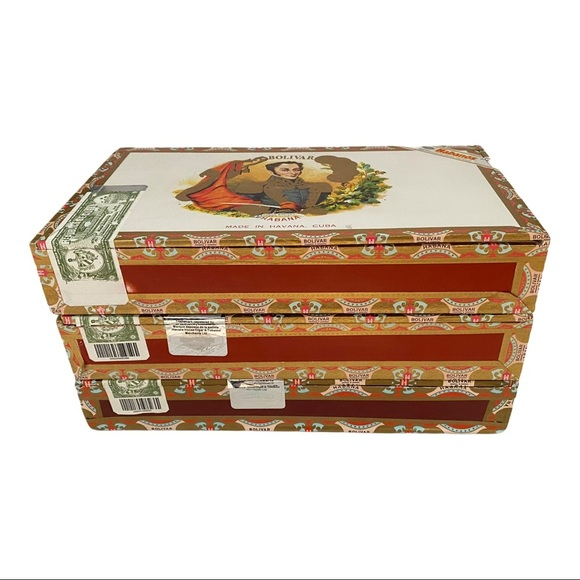 Cuban Cigar Boxes  (set of 3)